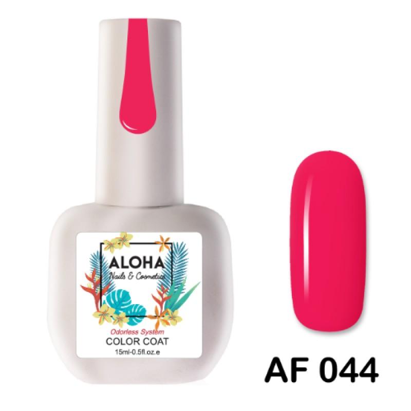 Ημιμόνιμο Βερνίκι-Μανό Aloha AF 044 Neon Coral Rose 15ml