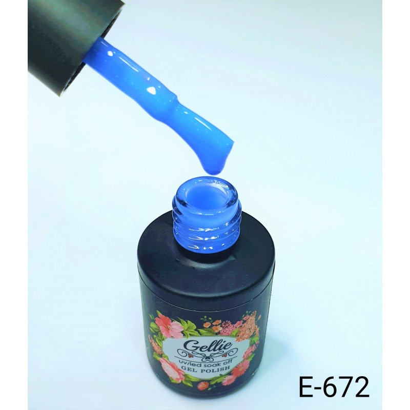 Ημιμόνιμο Βερνίκι Νυχιών- Μανό Gellie E672 10ml