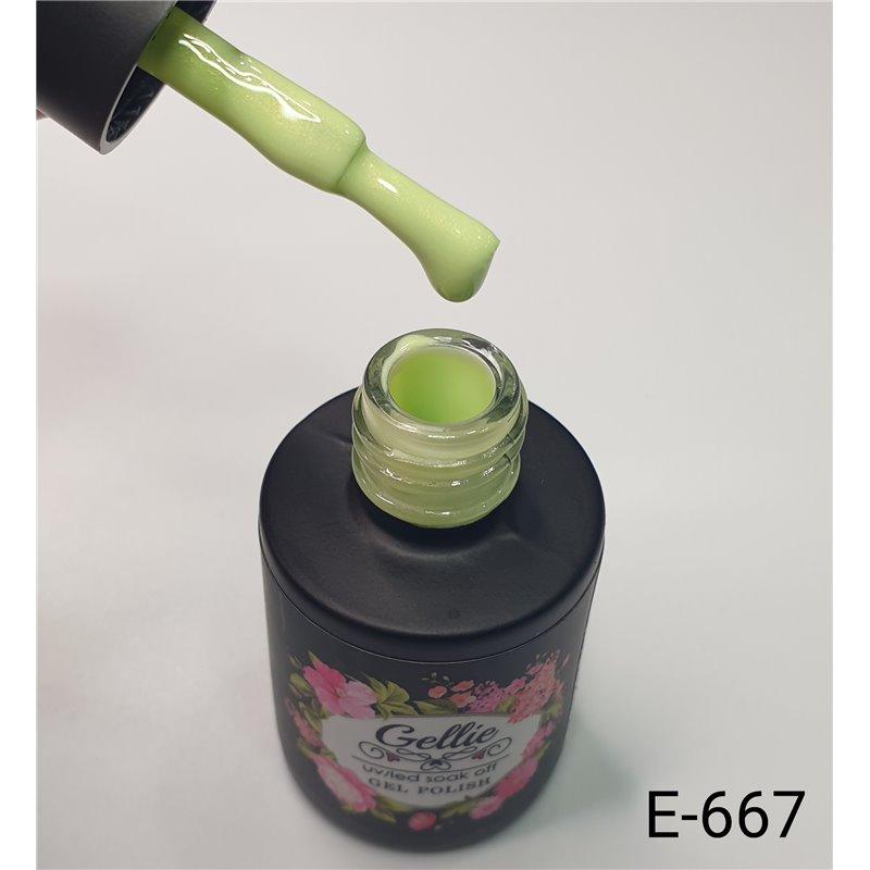 Ημιμόνιμο Βερνίκι Νυχιών- Μανό Gellie E667 10ml