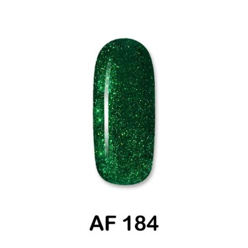 Ημιμόνιμο Βερνίκι Νυχιών - Μανό Aloha AF184 Metallic Dark Green With Glitter 15ml