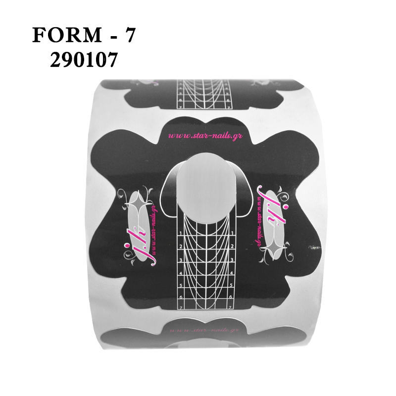 Αυτοκόλλητες φόρμες χτισίματος νυχιών J.K Star Nails 300 τμχ