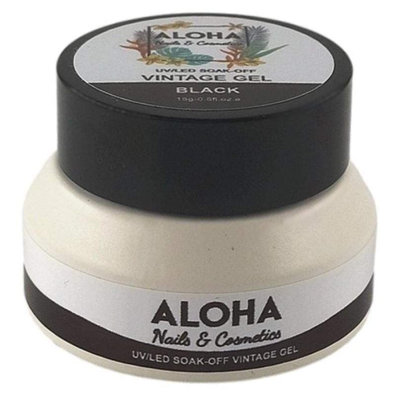 UV/LED Vintage Gel Color Paste Aloha Μαύρο (Black) 15gr