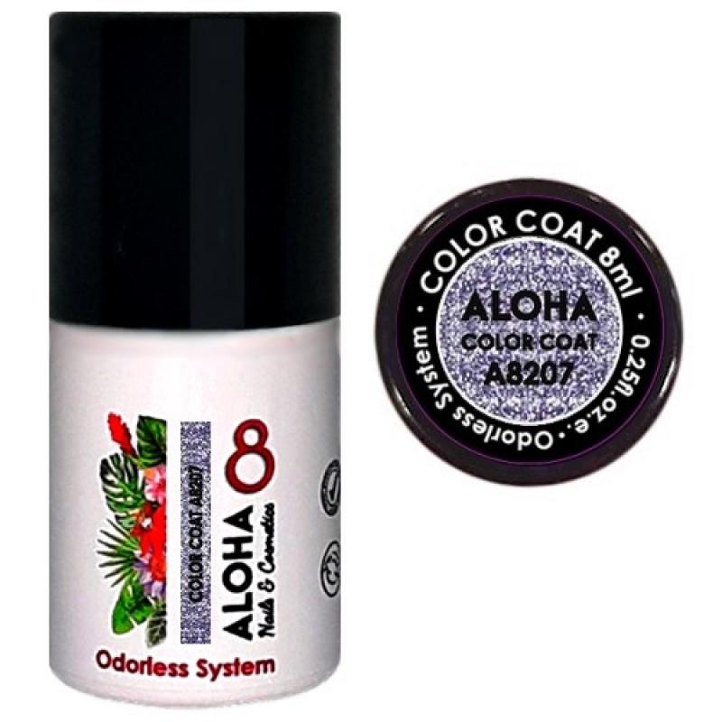 Ημιμόνιμο βερνίκι Aloha Color Coat A8207 Purple Gray Metallic With Shimmer 8ml