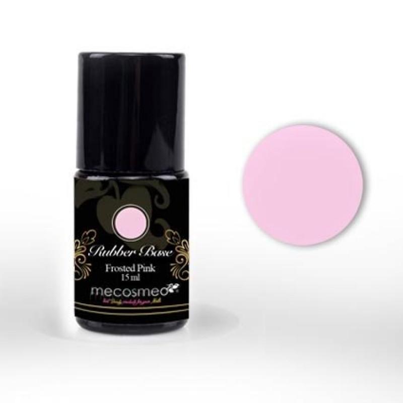 Ενισχυμένη Βάση Για Ημιμόνιμο Mecosmeo Rubber Base Frosted Pink 15ml
