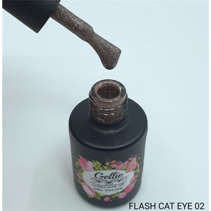 Ημιμόνιμο Βερνίκι Νυχιών- Μανό Gellie Flash Cat Eye  02 10ml