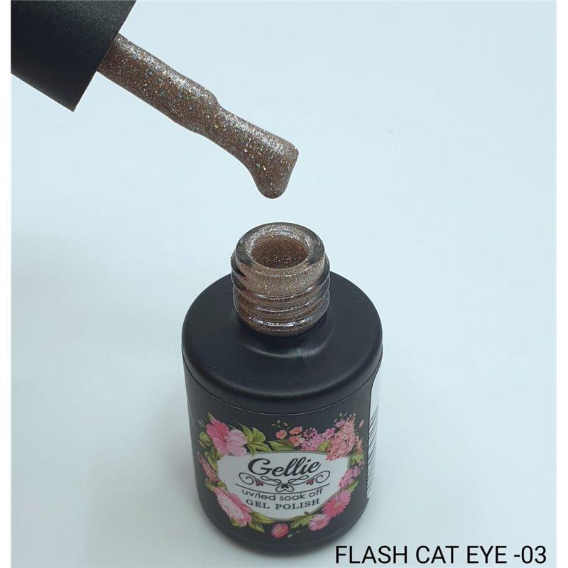 Ημιμόνιμο Βερνίκι Νυχιών- Μανό Gellie Flash Cat Eye  03 10ml