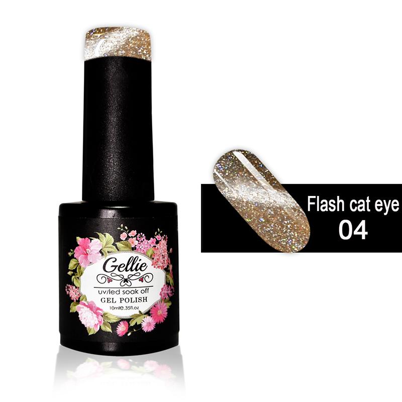 Ημιμόνιμο Βερνίκι Νυχιών- Μανό Gellie Flash Cat Eye  04 10ml