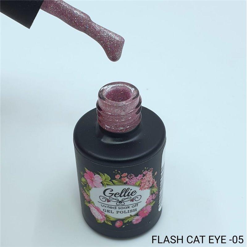 Ημιμόνιμο Βερνίκι Νυχιών- Μανό Gellie Flash Cat Eye  05 10ml