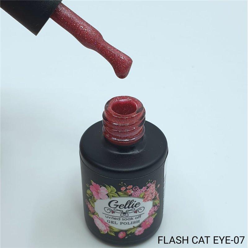 Ημιμόνιμο Βερνίκι Νυχιών- Μανό Gellie Flash Cat Eye  07 10ml