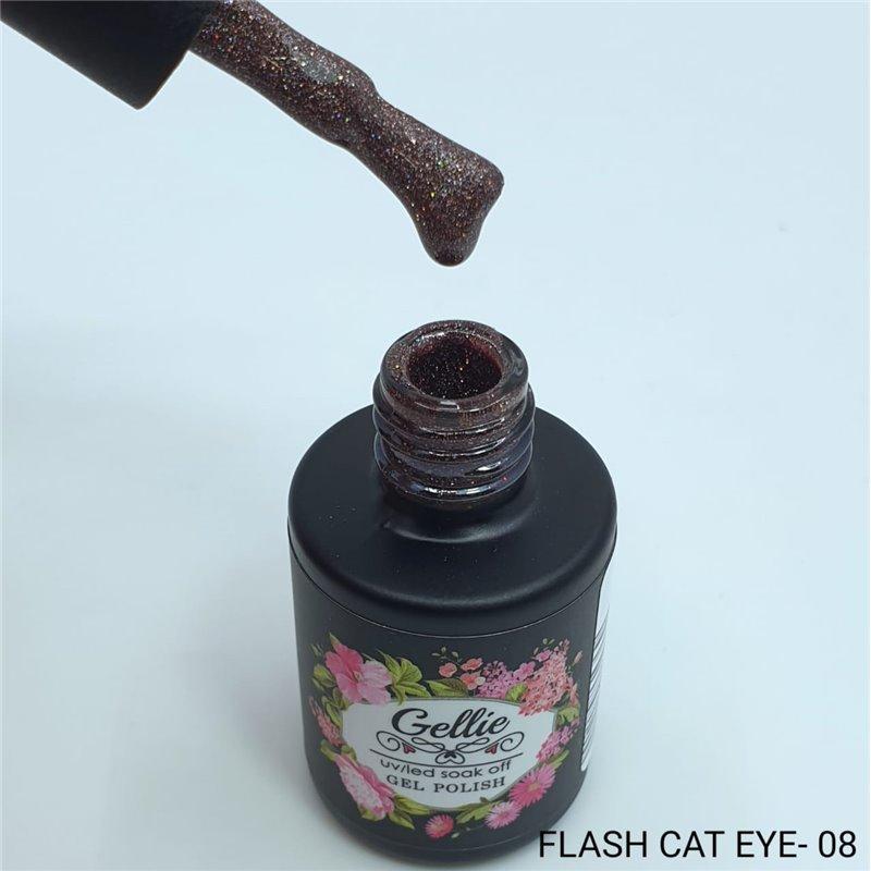 Ημιμόνιμο Βερνίκι Νυχιών- Μανό Gellie Flash Cat Eye  08 10ml