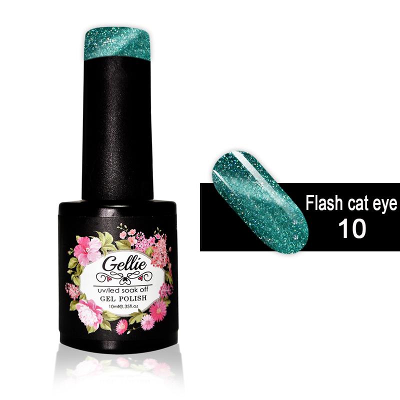 Ημιμόνιμο Βερνίκι Νυχιών- Μανό Gellie Flash Cat Eye  10 10ml