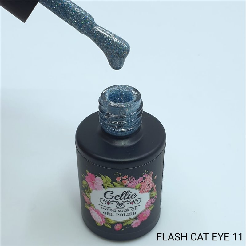 Ημιμόνιμο Βερνίκι Νυχιών- Μανό Gellie Flash Cat Eye  11 10ml