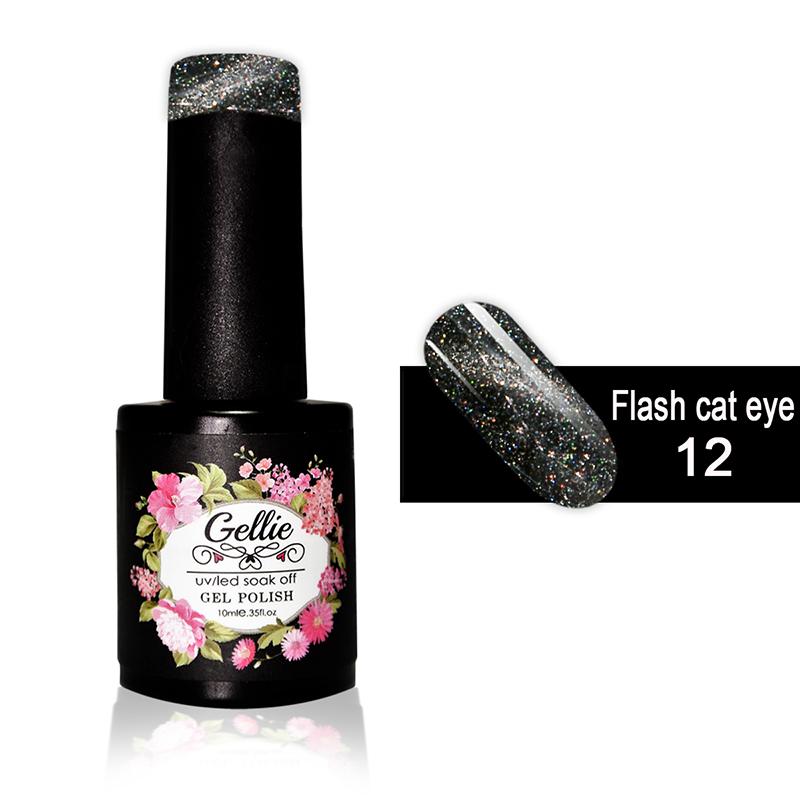 Ημιμόνιμο Βερνίκι Νυχιών- Μανό Gellie Flash Cat Eye  12 10ml