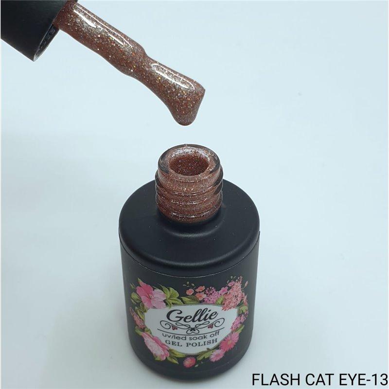 Ημιμόνιμο Βερνίκι Νυχιών- Μανό Gellie Flash Cat Eye  13 10ml