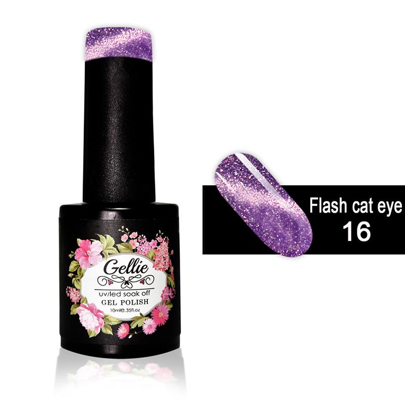 Ημιμόνιμο Βερνίκι Νυχιών- Μανό Gellie Flash Cat Eye  16 10ml