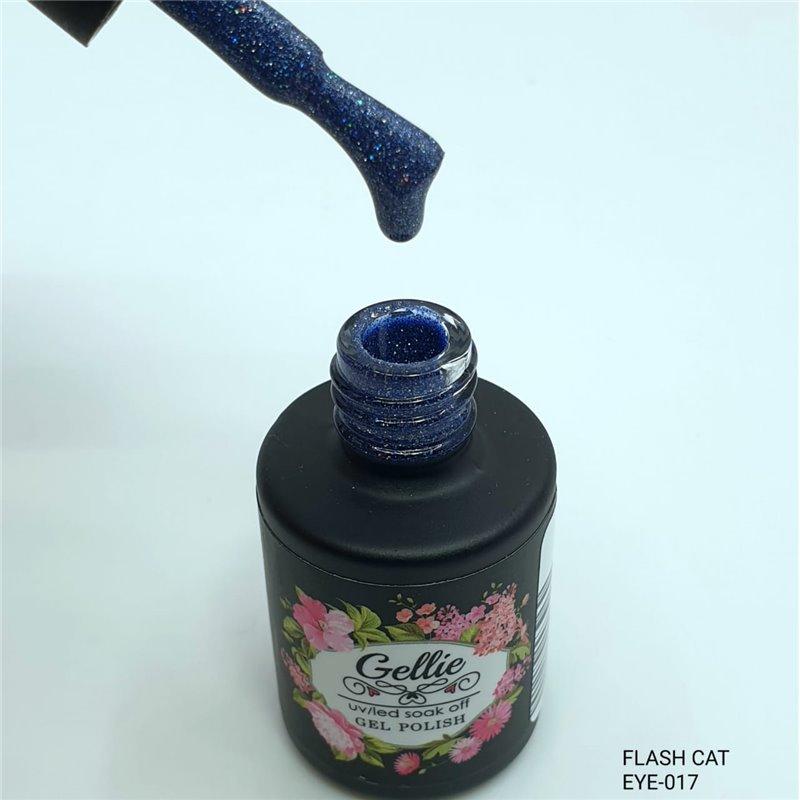 Ημιμόνιμο Βερνίκι Νυχιών- Μανό Gellie Flash Cat Eye  17 10ml