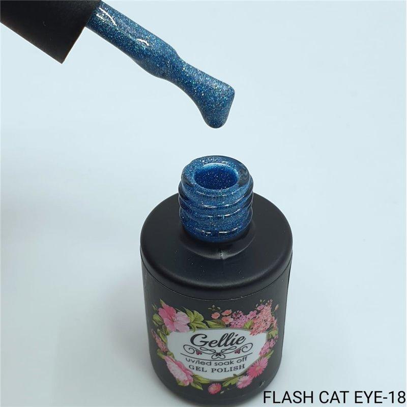 Ημιμόνιμο Βερνίκι Νυχιών- Μανό Gellie Flash Cat Eye  18 10ml