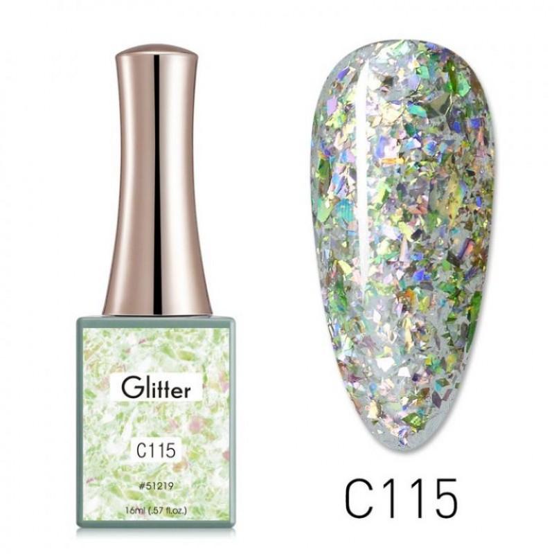 Ημιμόνιμο Βερνίκι Νυχιών - Μανό Canni Glitter  – C115 16ml