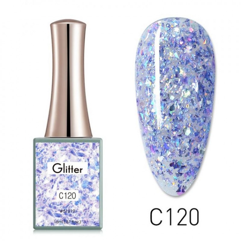 Ημιμόνιμο Βερνίκι Νυχιών - Μανό Canni Glitter  – C120 16ml