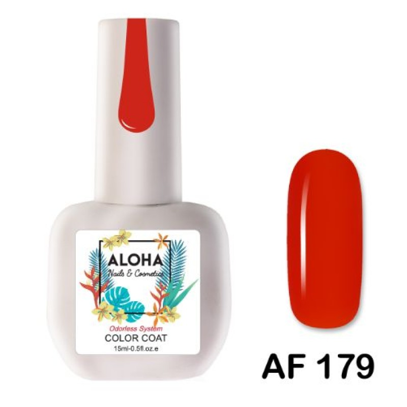 Ημιμόνιμο Βερνίκι Νυχιών Aloha AF179 Lava Red 15ml
