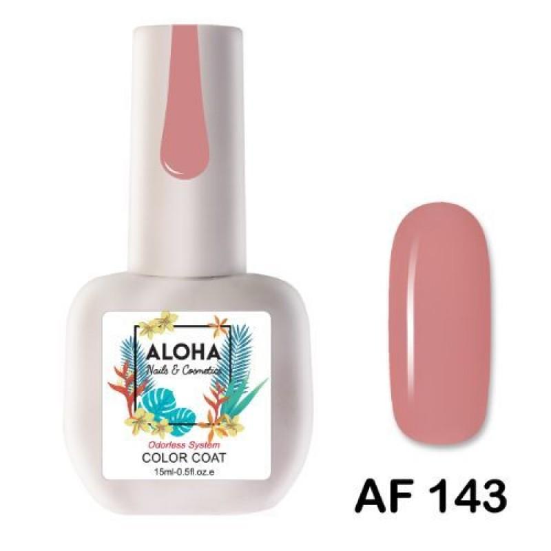 Ημιμόνιμο Βερνίκι Νυχιών-Μανό Aloha AF 143 Coral Rose 15ml