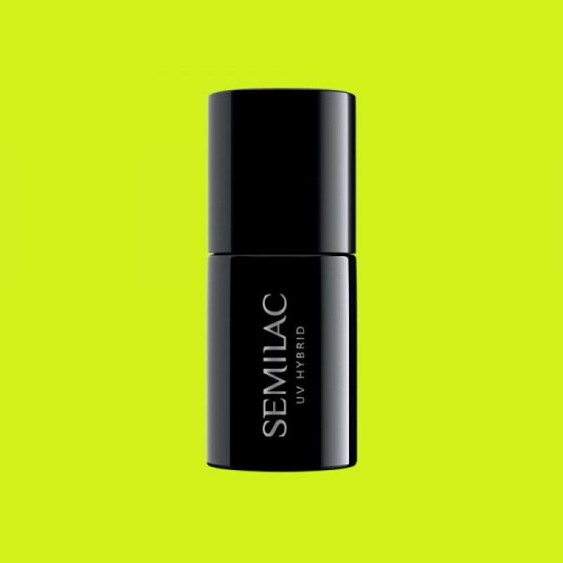 Ημιμόνιμο Βερνίκι Νυχιών- Μανό Semilac Hubrid 565 Neon Yellow 7ml