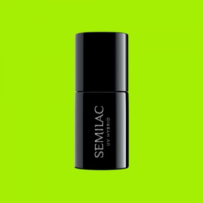 Ημιμόνιμο Βερνίκι Νυχιών- Μανό Semilac Hubrid 564 Neon Lime 7ml