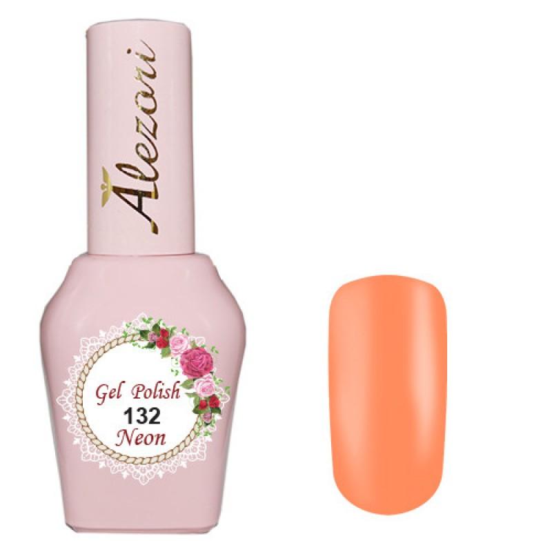 Ημιμόνιμο βερνίκι Νυχιών- Μανό Alezori Gel polish №132 Νεον Πορτοκαλί 15ml