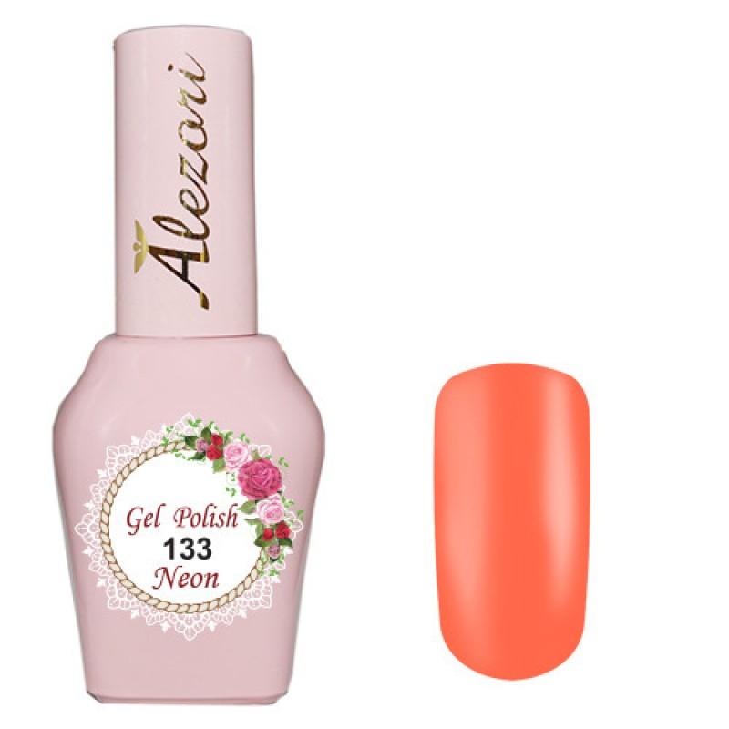 Ημιμόνιμο βερνίκι Νυχιών- Μανό Alezori Gel polish №133 Νεον Πορτοκαλοκόκκινο  15ml