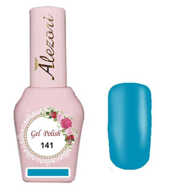 Ημιμόνιμο βερνίκι Νυχιών - Μανό Alezori Gel polish №141 Παστέλ Τιρκουάζ 15ml