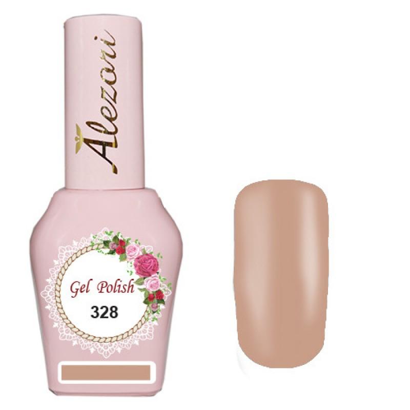 Ημιμόνιμο βερνίκι Νυχιών - Μανό Alezori Gel polish №328 Nude Μπεζ Shimmer 15ml