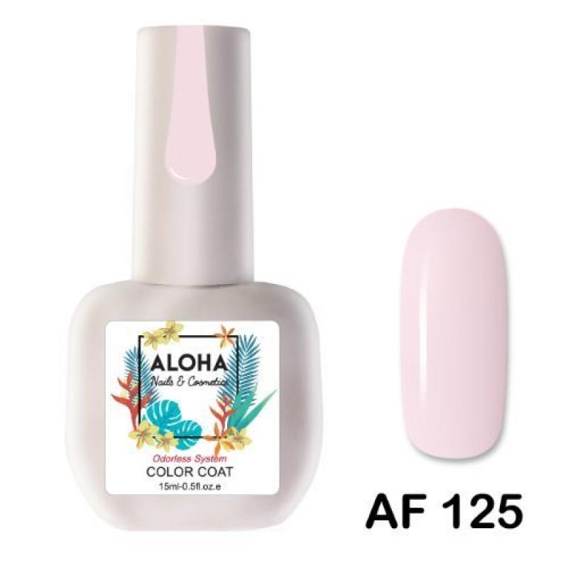 Ημιμόνιμο Βερνίκι Νυχιών- Μανό Aloha AF125 Very Soft Candy Pink 15ml