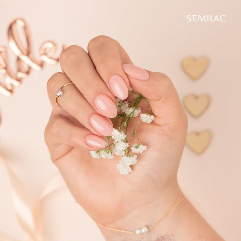 Semilac Ημιμόνιμο Βερνίκι Νυχιών 576 Bridesmaid In Rose 7ml