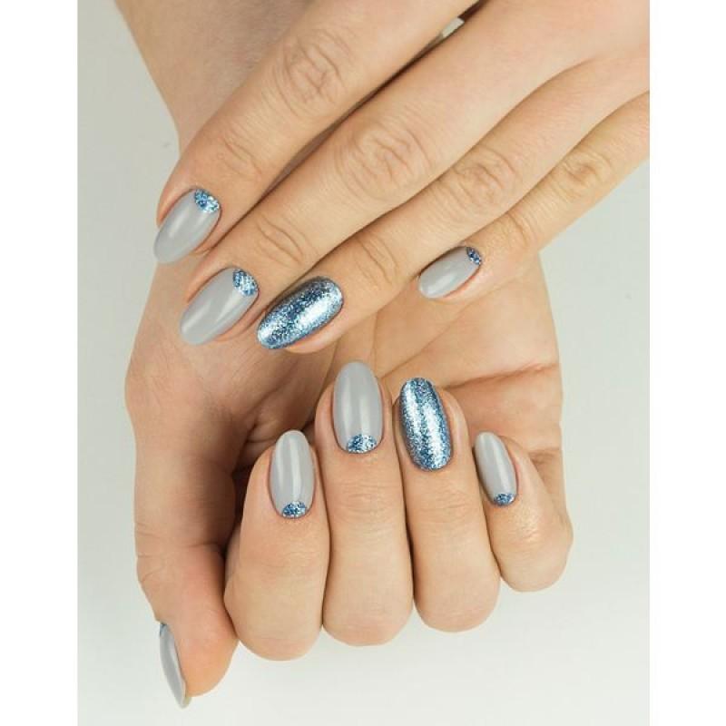 Ημιμόνιμο Βερνίκι Νυχιών – Μανό Semilac Platinum Silver Blue 255 7ml
