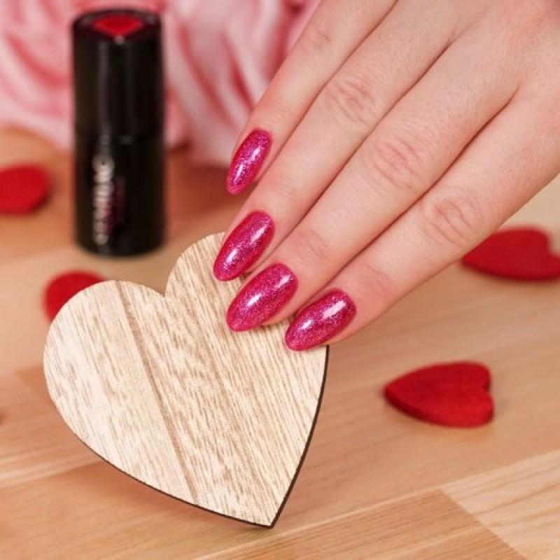 Ημιμόνιμο Βερνίκι Νυχιών- Μανό Semilac 348 Charming Ruby Glitter 7ml