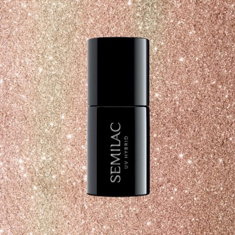 Ημιμόνιμο Βερνίκι Νυχιών- Μανό Semilac 349 Delicate Vanilla Glitter 7ml