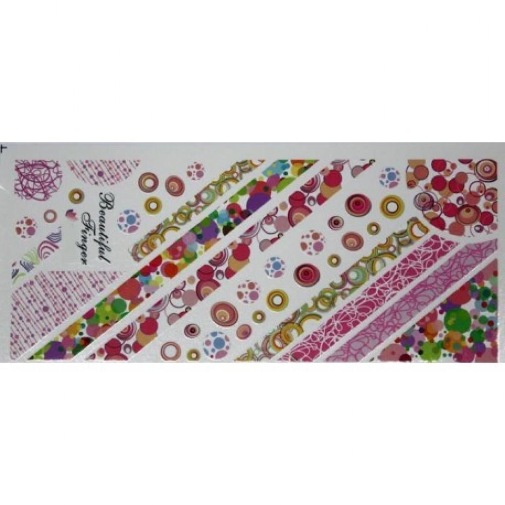 Water nail sticker XL