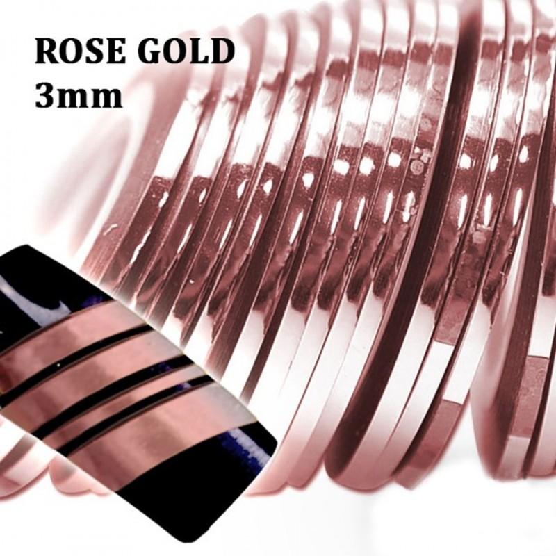 J.K ΔΙΑΚΟΣΜΗΤΙΚΕΣ ΤΑΙΝΙΕΣ ROSE GOLD 3mm (022218)